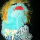 Vintage 1970s Animal Toys Plus BLUE Grouch Hand Puppet