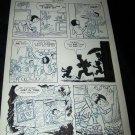 Vintage 1950s Original Comic Book Art ZIPPY CHIMP 1 p9 Faucette