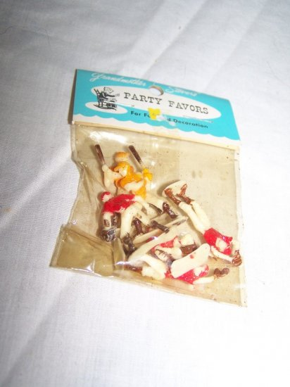 Vintage 1950 BASEBALL TEAM Players Party Favor Toy MINT New