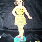 Vintage LINDA Magnetic Paper Doll Toy Clothes Lot
