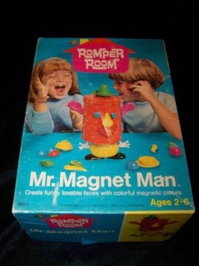 Vintage 1970 MR MAGNET MAN Romper Room Hasbro Toy Set