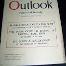 OUTLOOK Magazine March 14 1917 RUSSIA WWI WORLD WAR 1