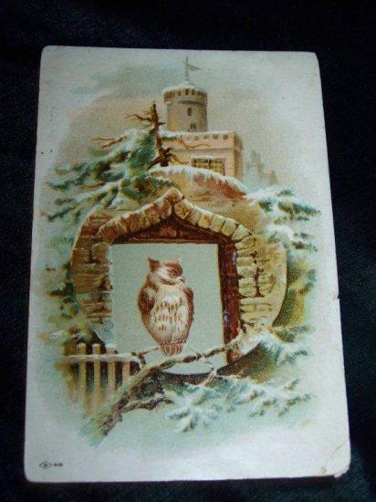 Antique/Victorian 1880s Christmas Chromo Litho Lithograph Trading Card