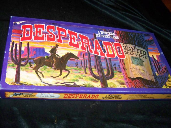 Vintage DESPERADO Western Mystery Board Game Whitehall