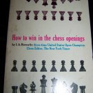 Vintage 1973 HOW TO WIN IN THE CHESS OPENINGS~I A Horowitz Book