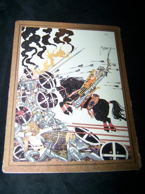 Kay Nielsen Black Horse WIDOWS SON Postcard Art Print
