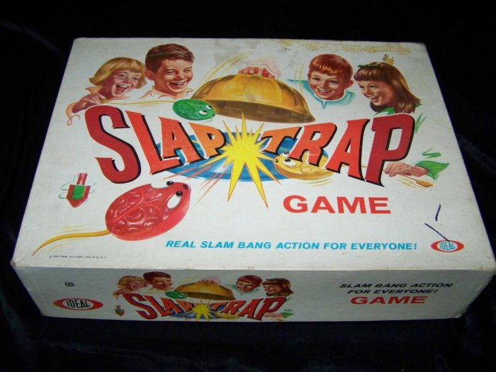 Vintage 1967 SLAP TRAP Pounce IDEAL Action Board Game