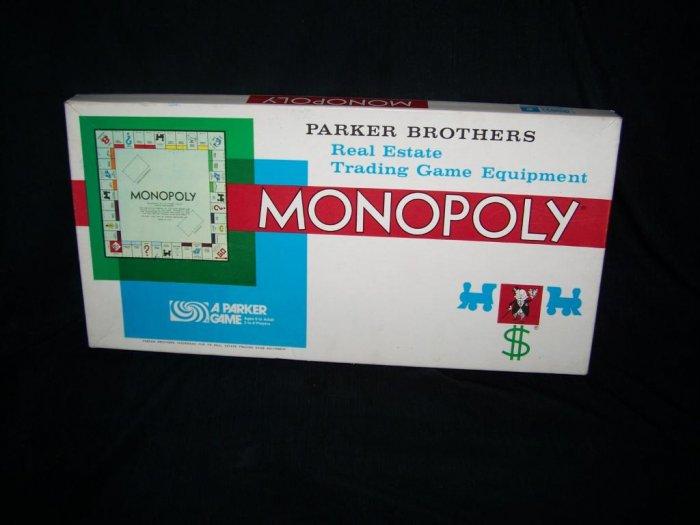 Vintage 1974 MONOPOLY Board Game Parker Brothers