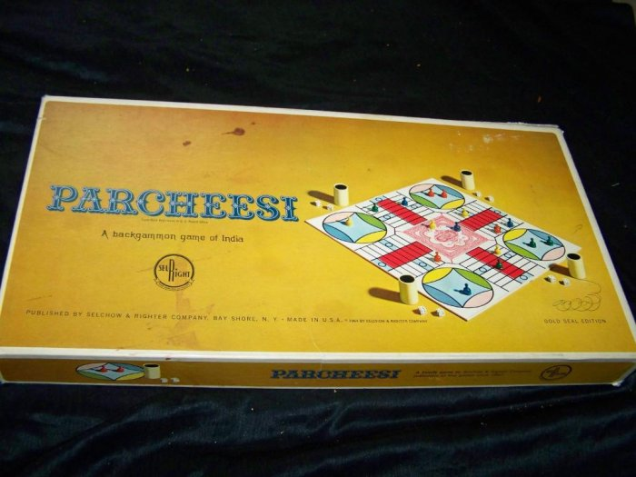 Vintage 1964 PARCHEESI Board Game Selchow & Righter 60s