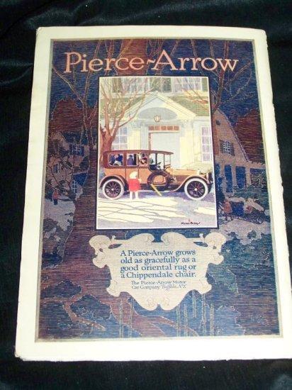 Antique OUTLOOK Magazine Jan 1916 PIERCE-ARROW CAR Ad