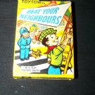 Vintage TOYTOWN BEAT YOUR NEIGHBOURS Card Game Tower