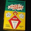 Vintage 1960s MULTIPLICATION MATH FLASH CARDS Game Set