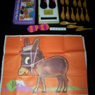 Vintage 1967 PIN TAIL ON DONKEY Whitman Party Game