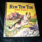 Vintage RIN TIN TIN AND RUSTY 1st Ed Little Golden Book