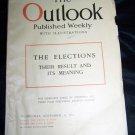 Vintage OUTLOOK Magazine November 15 1916 Elections