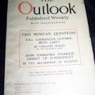 Vintage OUTLOOK Magazine Nov 8 1916 Mexico Carranza