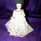 "Vintage 50s Hard Plastic Crochet Dress Fashion 8"" Doll"