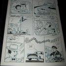 Vintage 1950s Original Comic Book Art ZIPPY CHIMP 1 p28 Faucette