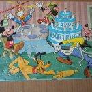 Vintage MICKEY MOUSE BIRTHDAY Jaymar Toy Jigsaw Puzzle