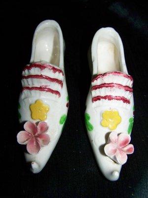 Vintage 1950s-1960s Ceramic China High Heel Shoe Lot Japan