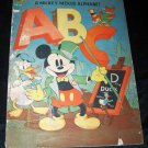 Vintage 1938 MICKEY MOUSE Walt Disney Alphabet/ABC Whitman Book 1930s