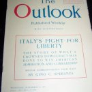 Vintage OUTLOOK Magazine Sept 12 1917 ITALY'S LIBERTY
