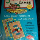 Vintage 3 TRAV-O-LETTE TRAVEL CARD GAME Built-Rite NEW