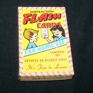 Vintage 1960s SUBTRACTION FLASH CARDS Built-Rite Game