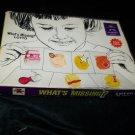 Vintage WHAT'S MISSING? LOTO School Ed Ed-U-Cards Game