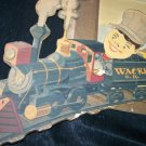 Vintage 1940s RAILROAD TRAIN 3D Print Wackie Pictures
