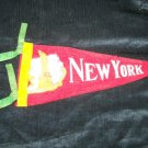 Vintage 1950s NEW YORK Statue of Liberty Souvenir Pennant