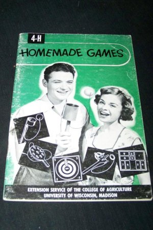Vintage 1950s 4-H Homemade Games Book Booklet