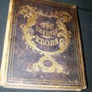 Antique THE AMERICAN FLORA  History of Plants Wild Flowers Vol III A.B. Strong Colored Engravings