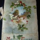 Antique MERRY TIMES Chromolithograph Christmas Book