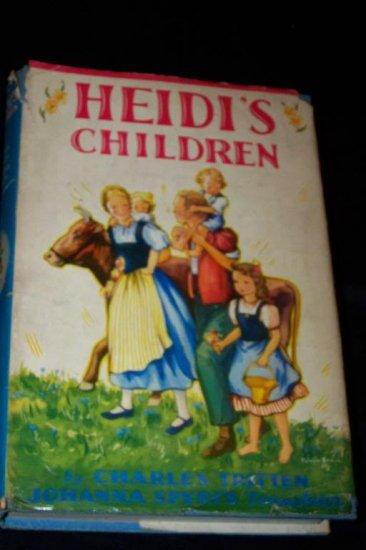 Vintage 1939 HEIDI'S CHILDREN HC/DJ Grosset Dunlap Book