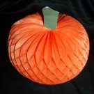 "Vintage 6"" Halloween Honeycomb Paper Pumpkin Hallmark Decoration"