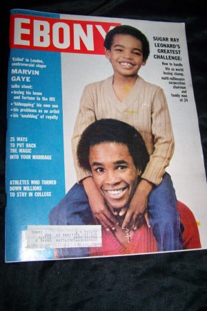 Vintage EBONY Magazine March 1981 SUGAR RAY LEONARD, Marvin Gaye
