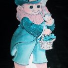 Vintage Leprechaun St Patricks Day Diecut Decoration