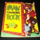 Vintage 1953 ANIMAL COLORING BOOK Children's Saalfield