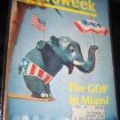 Vintage NEWSWEEK Magazine Aug 12 1968 GOP Republican