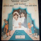 Vintage 1929 Sheet Music THE WEDDING OF THE PAINTED DOLL Broadway Melody
