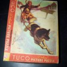 Vintage TUCO~HAPPY EXPLORERS Sled Dog~Picture Puzzle