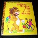 Vintage TAWNY SCRAWNY LION & CLEVER MONKEY Golden Book