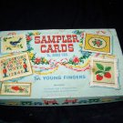Vintage SAMPLER CARDS Little Fingers Cross-Stitch Toy