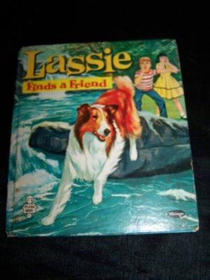 Vintage 1960 LASSIE FINDS A GRIEND Whitman HC Book