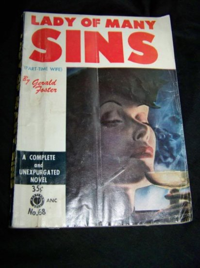 Vintage 1952 LADY OF MANY SINS Gerald Foster PB Book