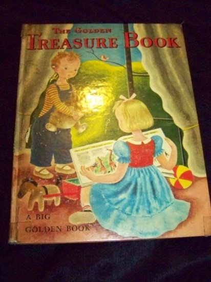 Vintage 1951 BIG GOLDEN TREASURE 26 STORIES FUN BOOK