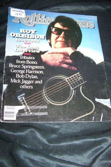 Rolling Stone Magazine January 26 1989 Roy Orbison