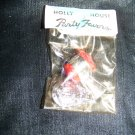 Vintage 1960s Holly House Party Favors Tin Whistle Police Badge Charm Toy Mint in Bag