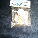 Vintage 1960s Holly House Party Favors Metal Knife Fork Plastic Pan Charm Dollhouse Toy Mint in Bag